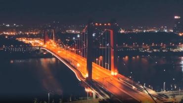 夜色迷人的良庆大桥